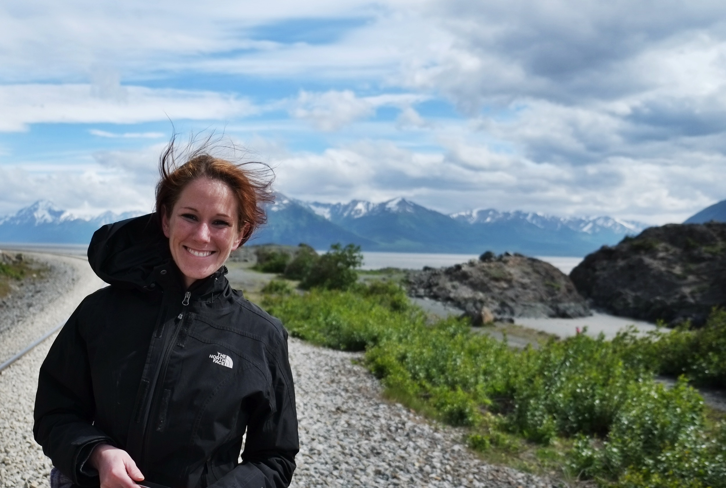 Beluga Point at Turnagain Arm with Jessie (we grew up together in Italy) - Beluga can be seen from July through August