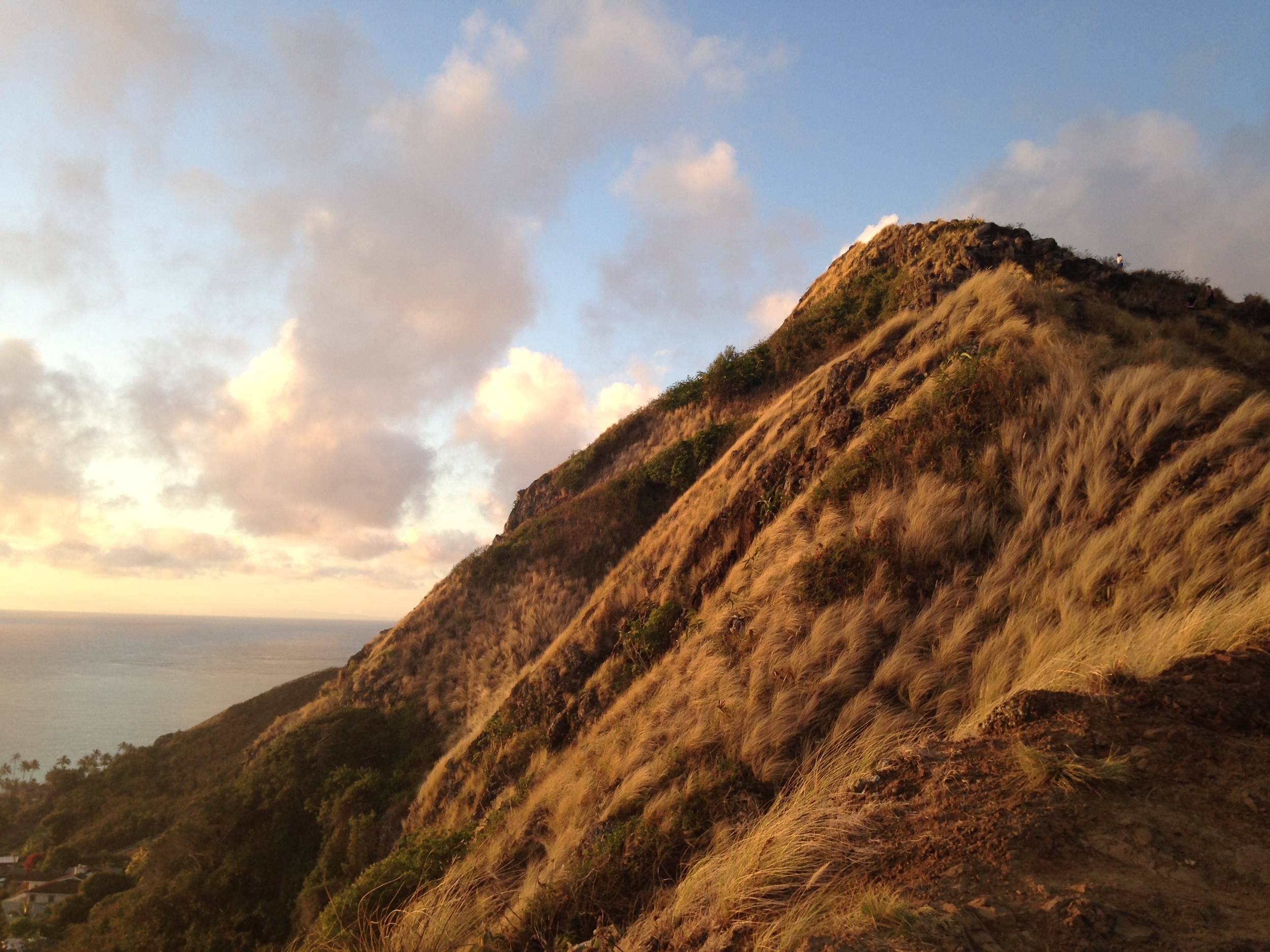 Lanikai pillboxes hike at sunrise. The pillboxes are remnants from WWII.