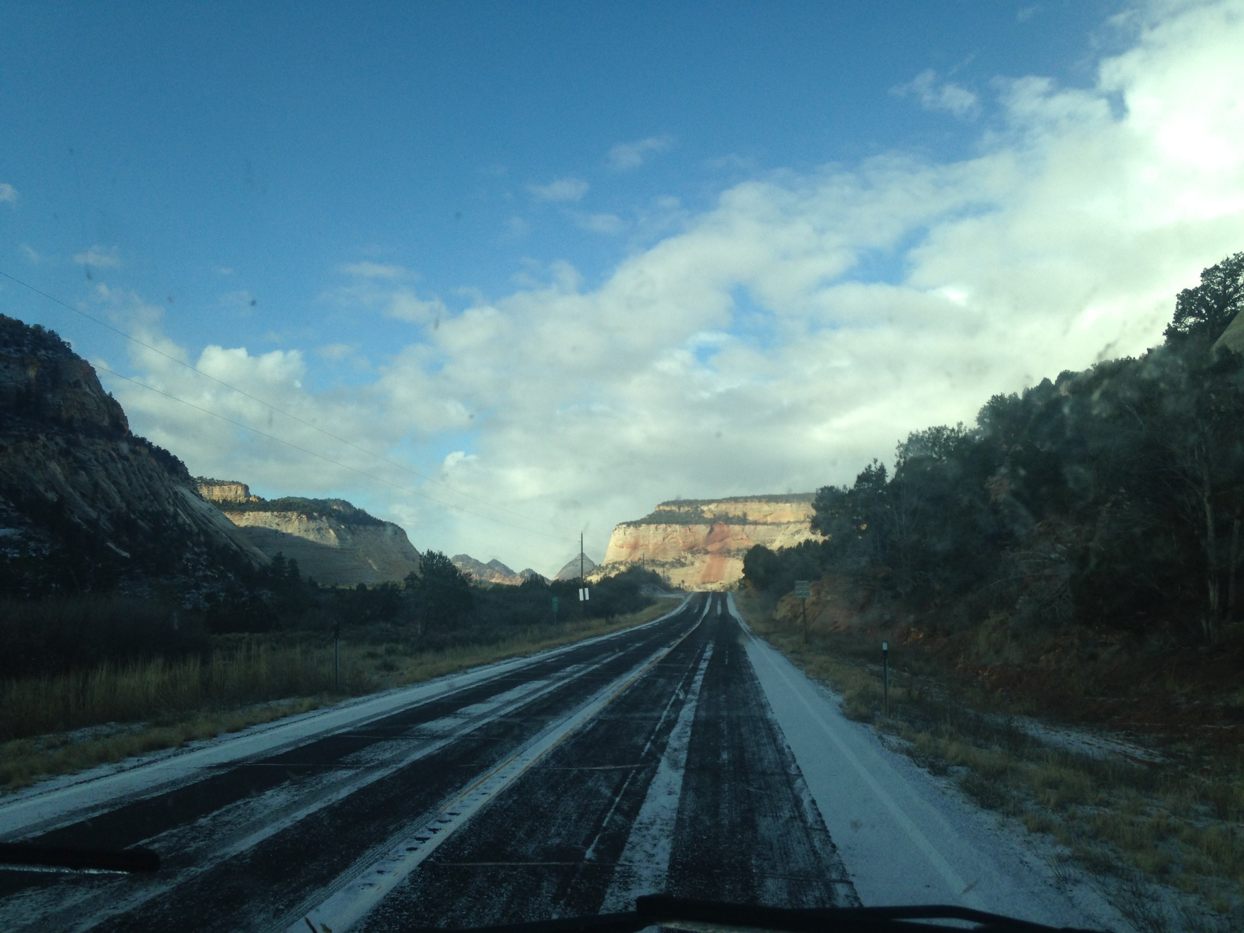 Zion before the snow storm