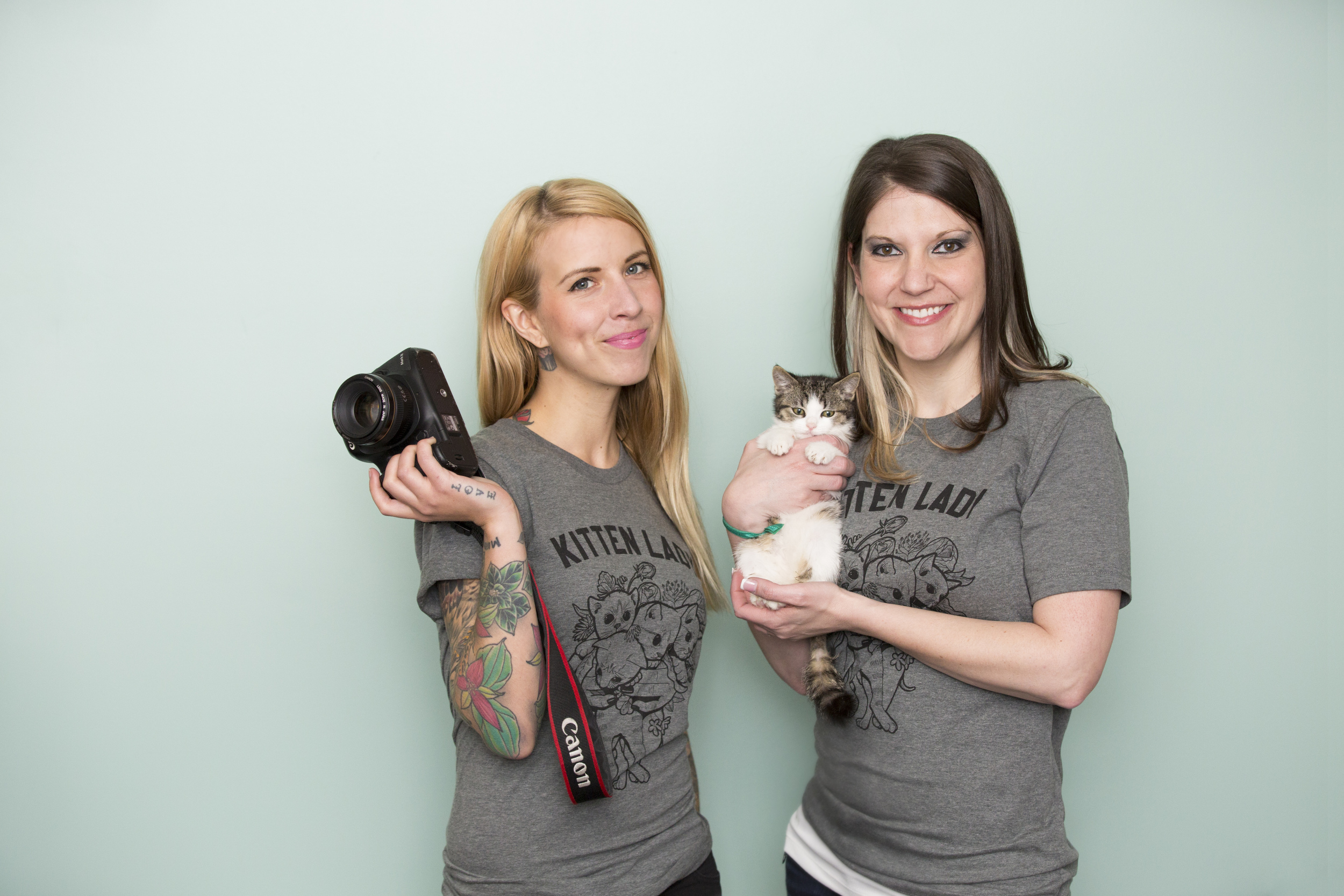 Hannah Shaw (Kitten Lady), Elizabeth Putsche (Photographers for Animals), and Marlin!