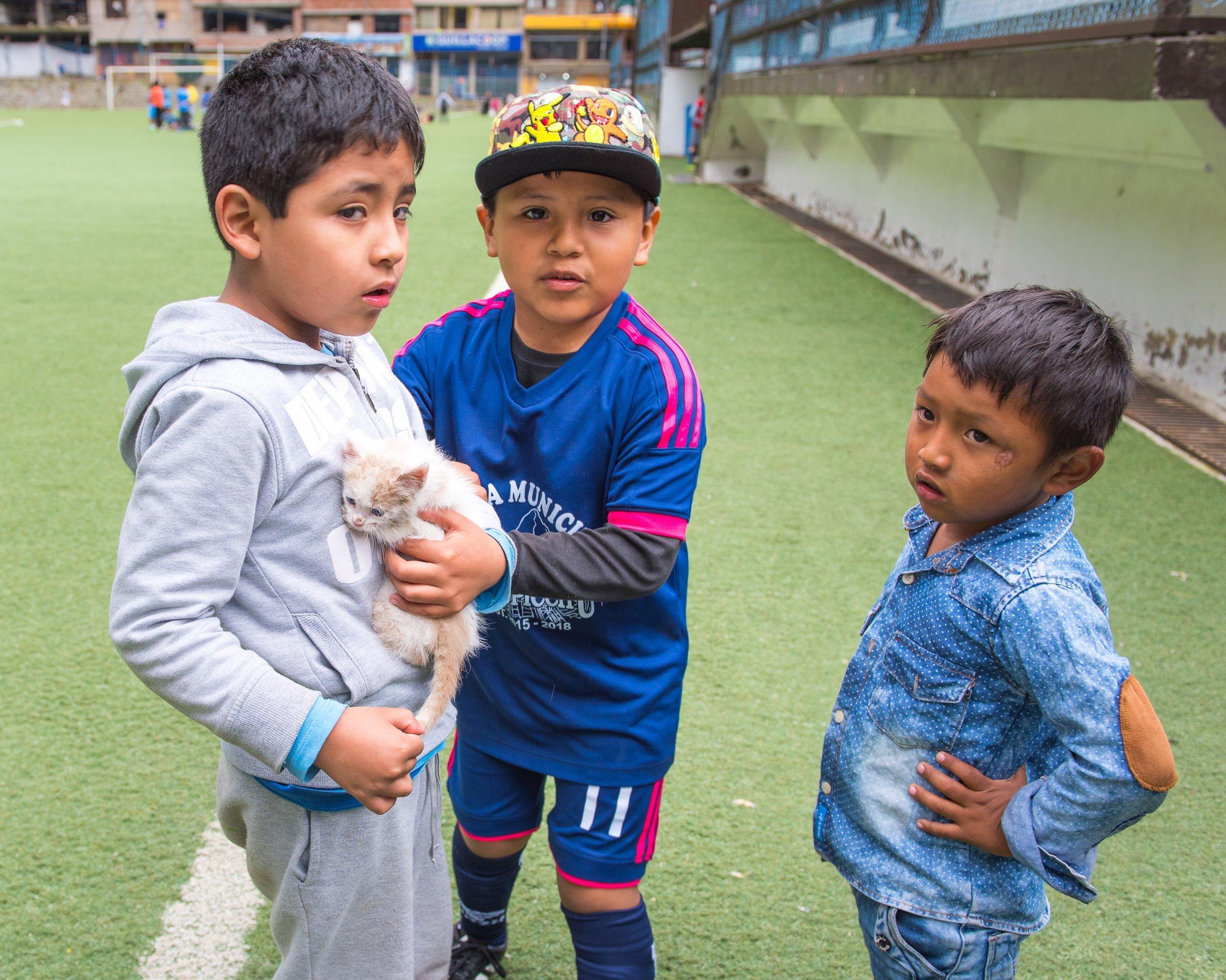 The children who found Munay.