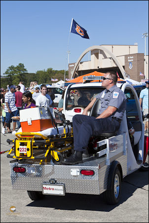 A medical team at the Wings Over Atlanta airshow, October, 2010. Notice the hard edge to the shadow. ©2010 John Slemp