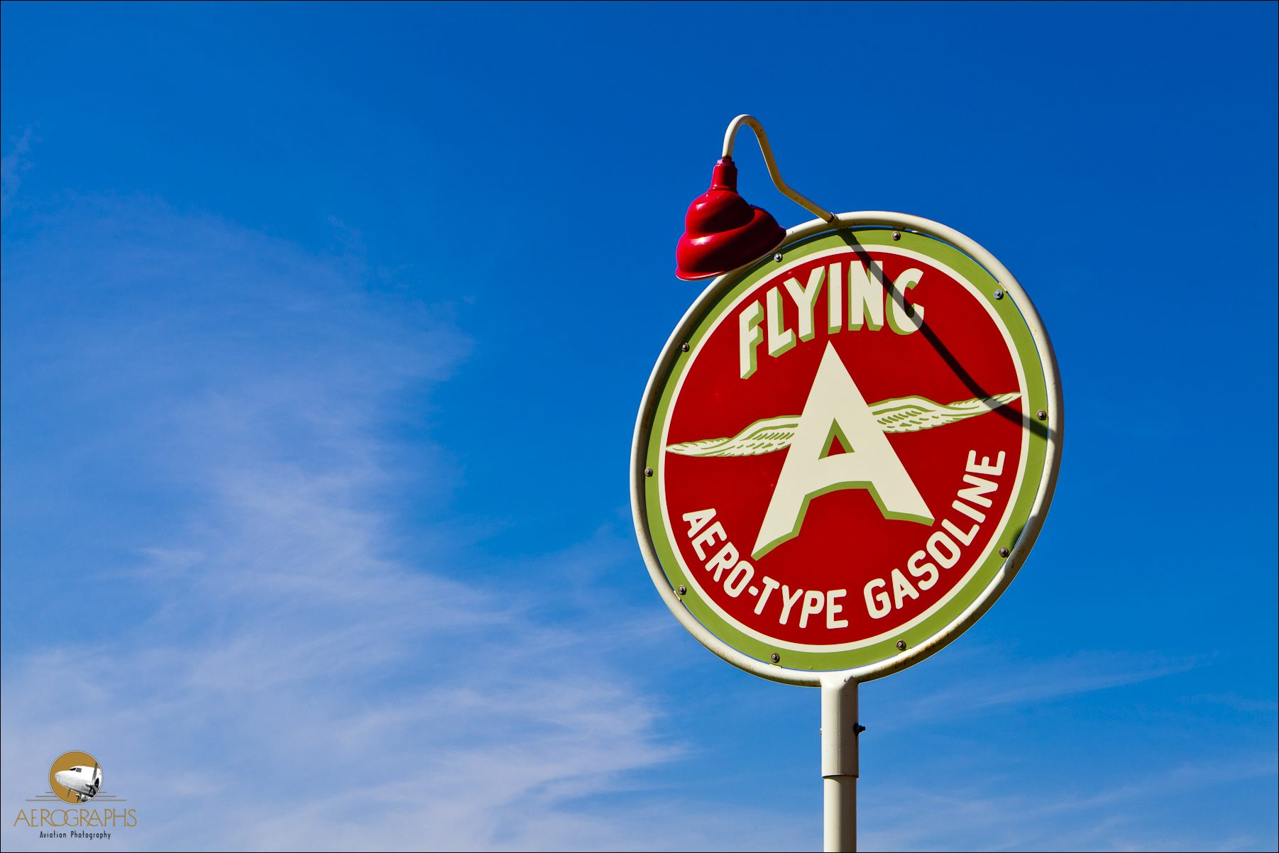 Vintage sign at the Allen Airways Flying Museum in El Cajon, California.