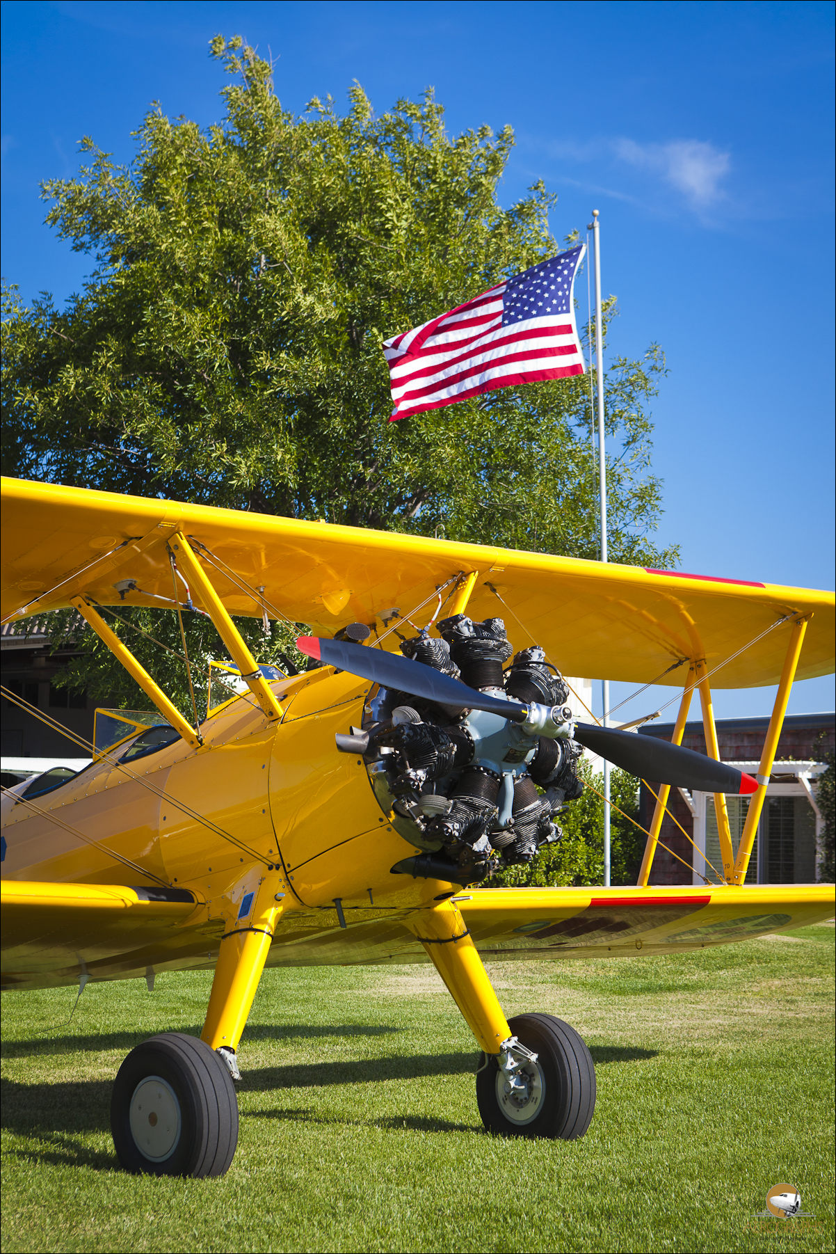 Boeing Stearman, part of the Allen Airways Flying Museum collection.  El Cajon, California.