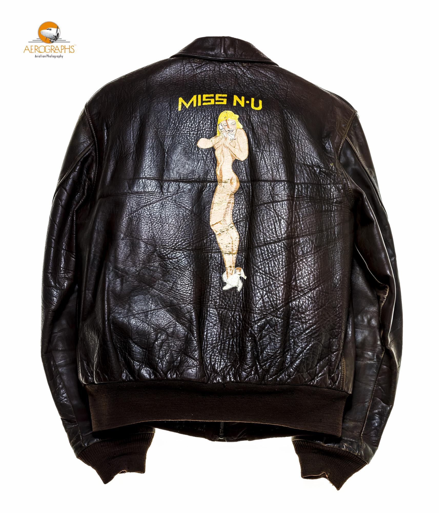The back side of Mr. A.B. Clement's A2 jacket  . ©2014 John Slemp