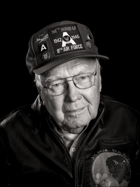 Dudley Brown was a Flight Engineer/Top Turret Gunner on a B-17 bomber...