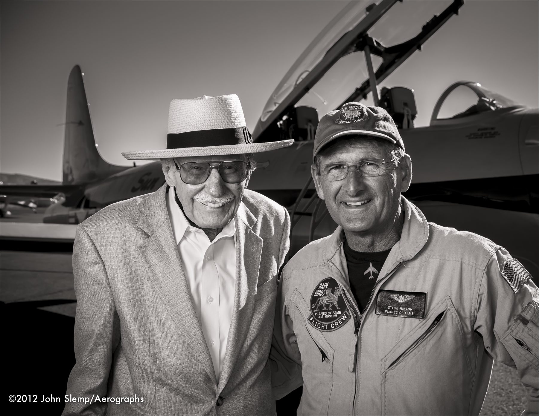 Bob Hoover and Steve Hinton at the 2012 Reno Air Races.  Created for Smithsonian Air & Space magazine.