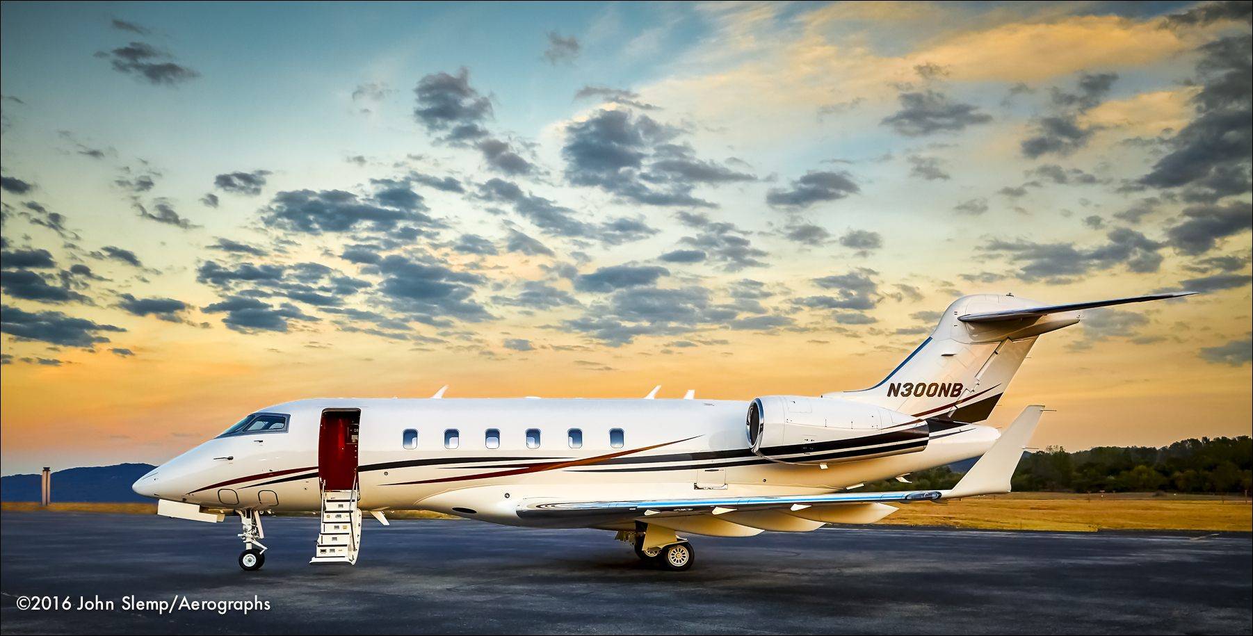 Bombardier Challenger 300 owned by the Nelson Brothers company in Birmingham, Alabama.