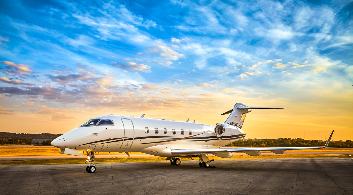 Challenger 300, photographed on the ramp at  Birmingham-Shuttlesworth International Airport , for a corporate client. October, 2016. ©2016 John Slemp
