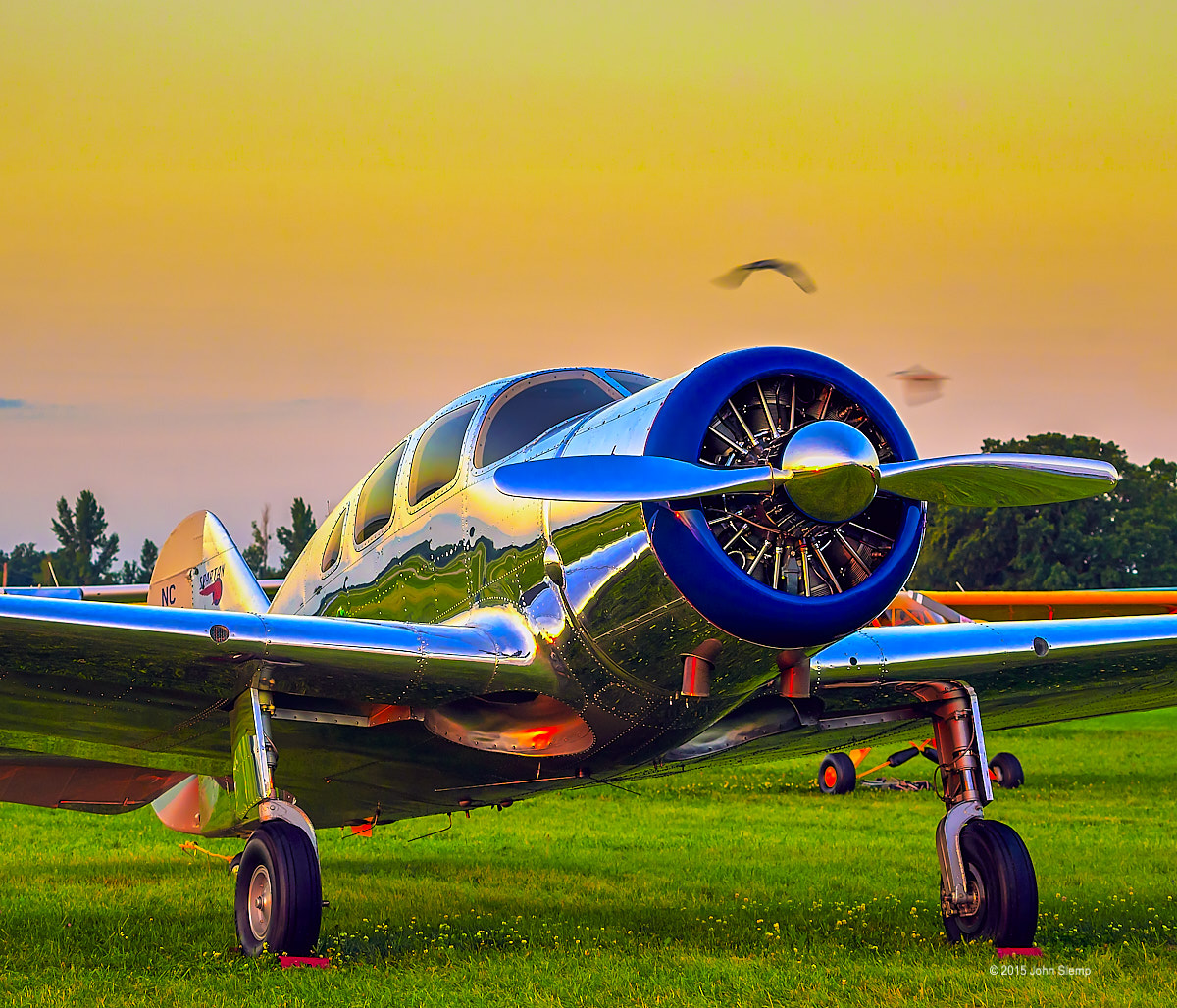 A lovely Spartan Executive photographed at dawn during AirVenture 2015 in Oshkosh, Wisconsin.