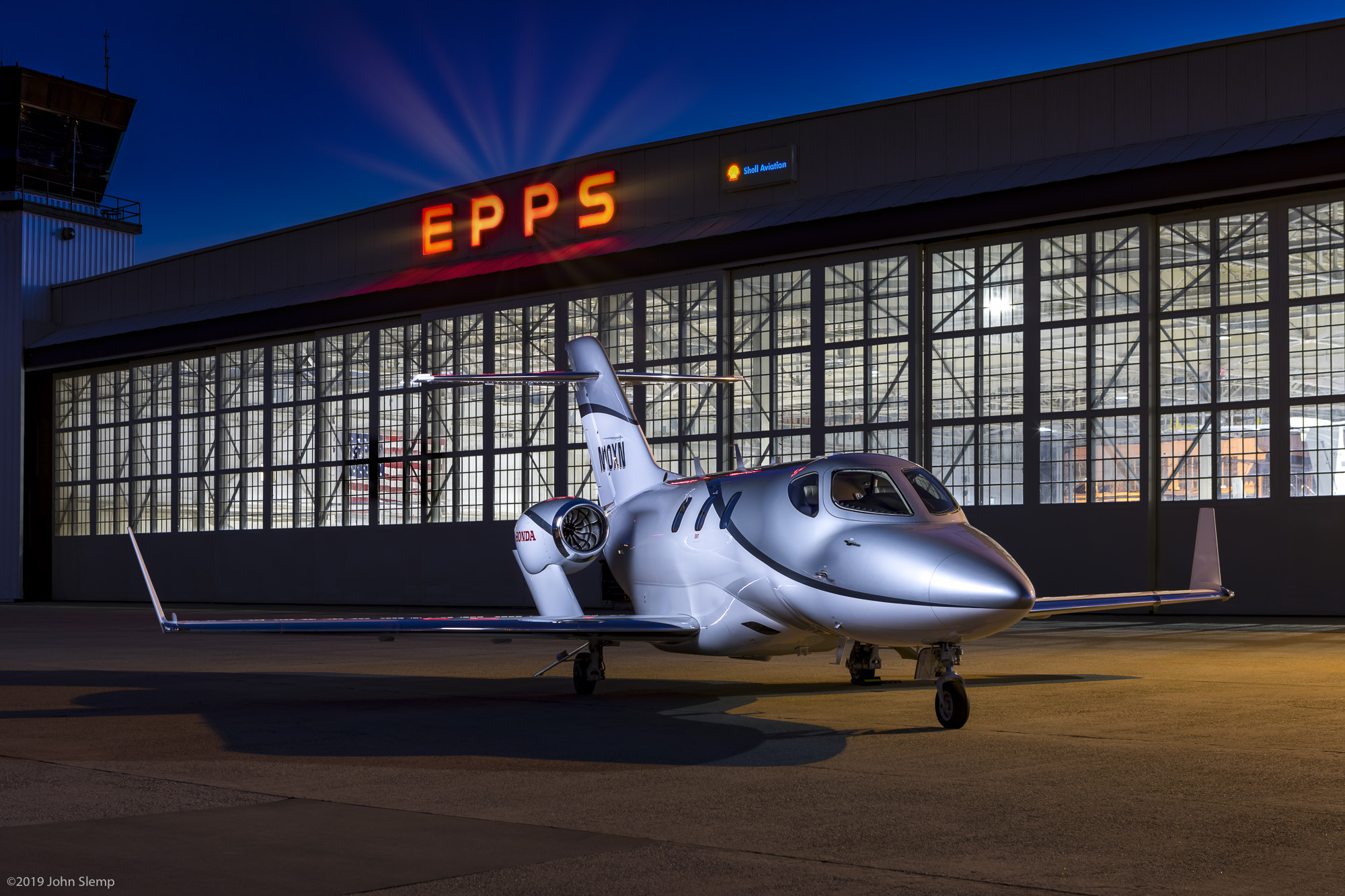 HondaJet photographed recently at Dekalb Peachtree Airport here in Atlanta. ©2019 John Slemp