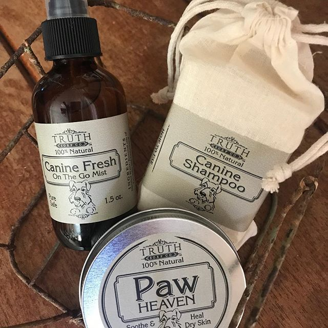 Po & Kylo say yes to #natural #organic #shampoobar #lotionbars #keeshond #paw #bodymist #doglover #handcrafted #pensacola