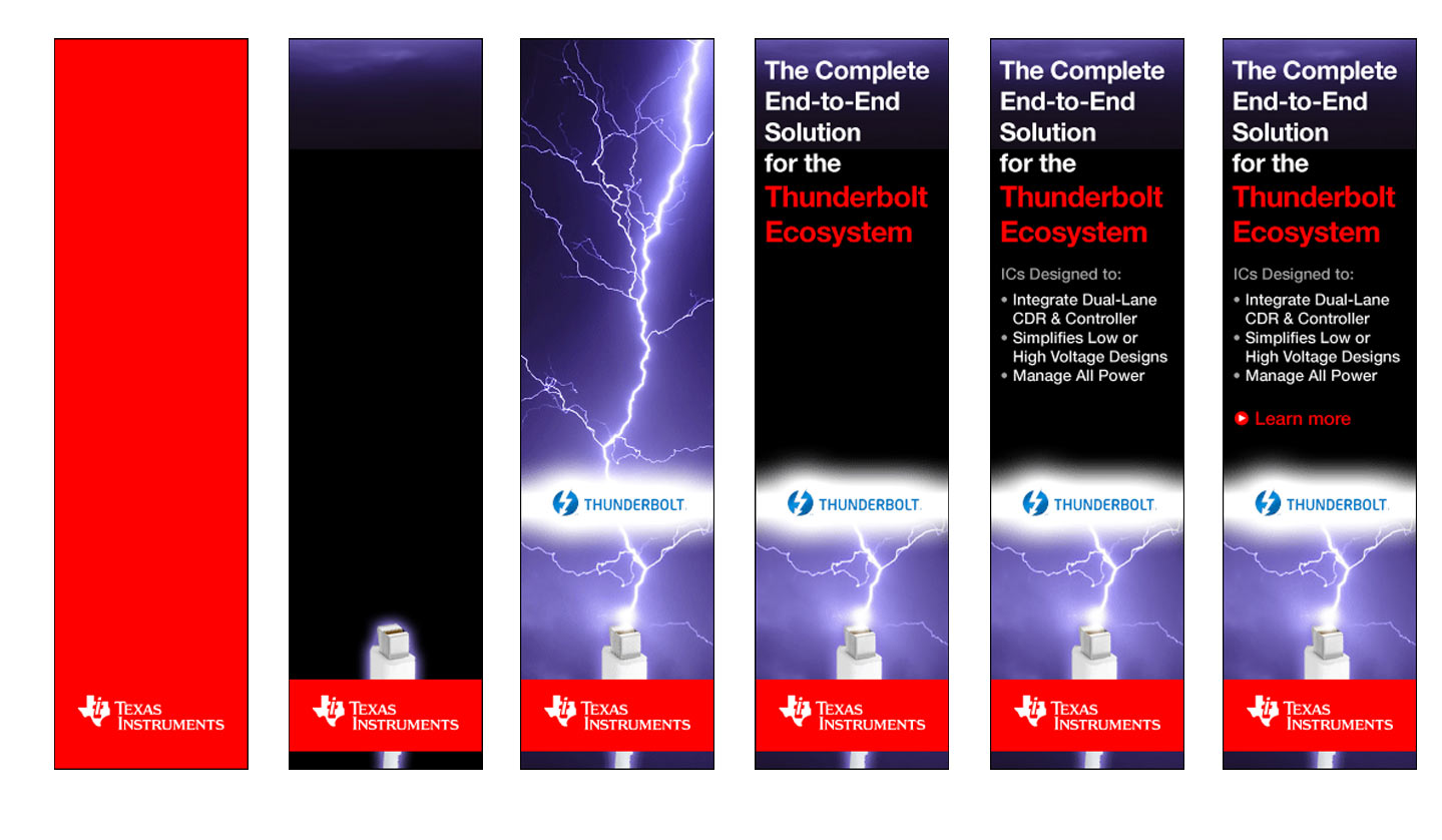 Thunderbolt banner ads animation