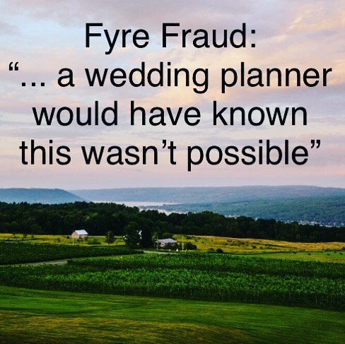 Yes, yes we would have . . . #weddingplannersknow #fyrefraud #limedropevents #rochesternyweddingplanner #fingerlakesplanner #rochesternyeventplanner  #celebrations #weddings