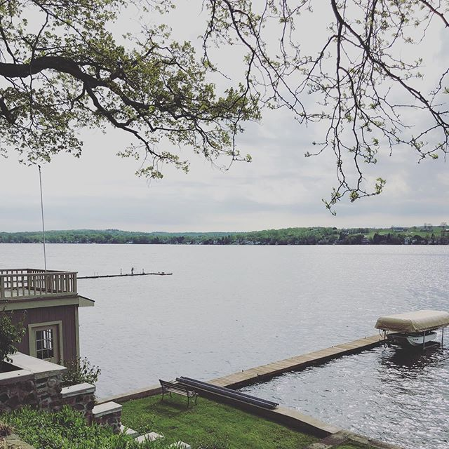It's another @mccarthyevents lake visit.  So lucky to be able to start the day with this view . . . #limedropevents #rochesternyweddingplanner #fingerlakesplanner #rochesternyeventplanner  #celebrations #weddings