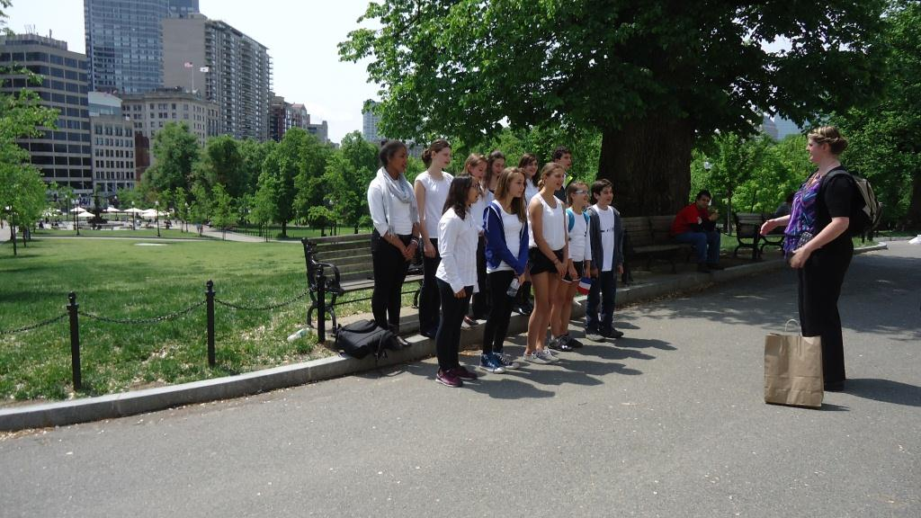 International School Chorus on the Boston Common