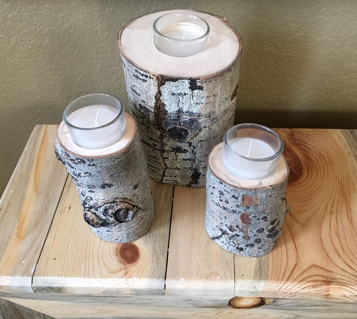 Aspen candle holder $12