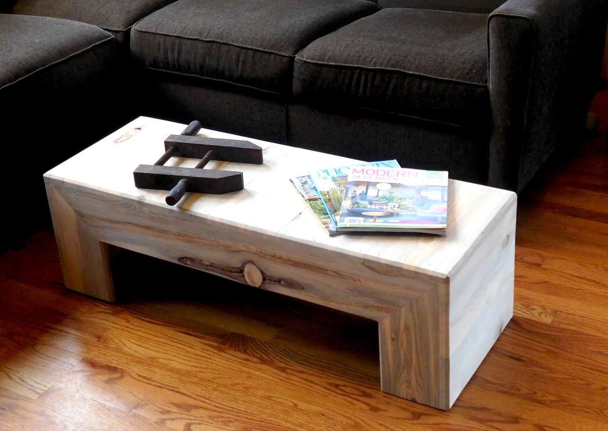 Beetle kill pine classic coffee table - $425