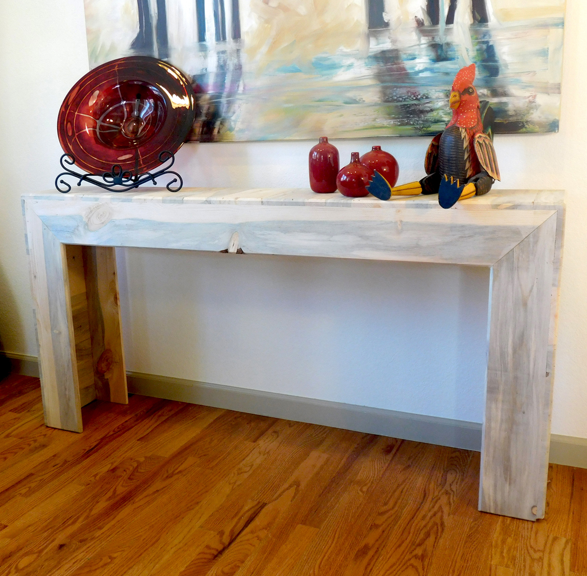 Beetle kill pine classic console table - $500