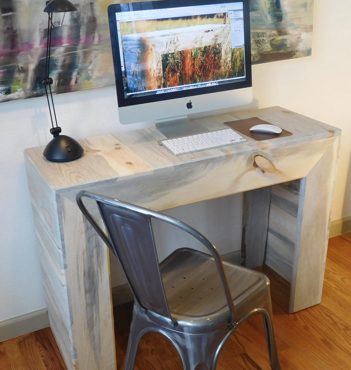 Beetle kill pine classic desk - $500