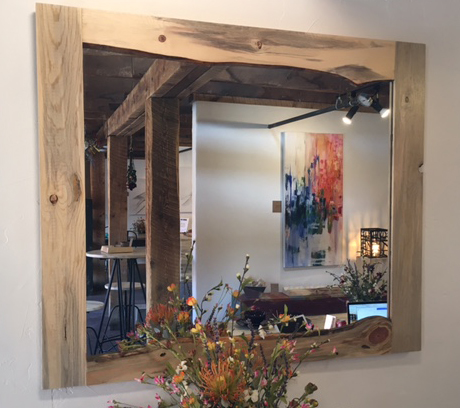 Beetle kill pine live edge mirrors, various sizes - $250 and up