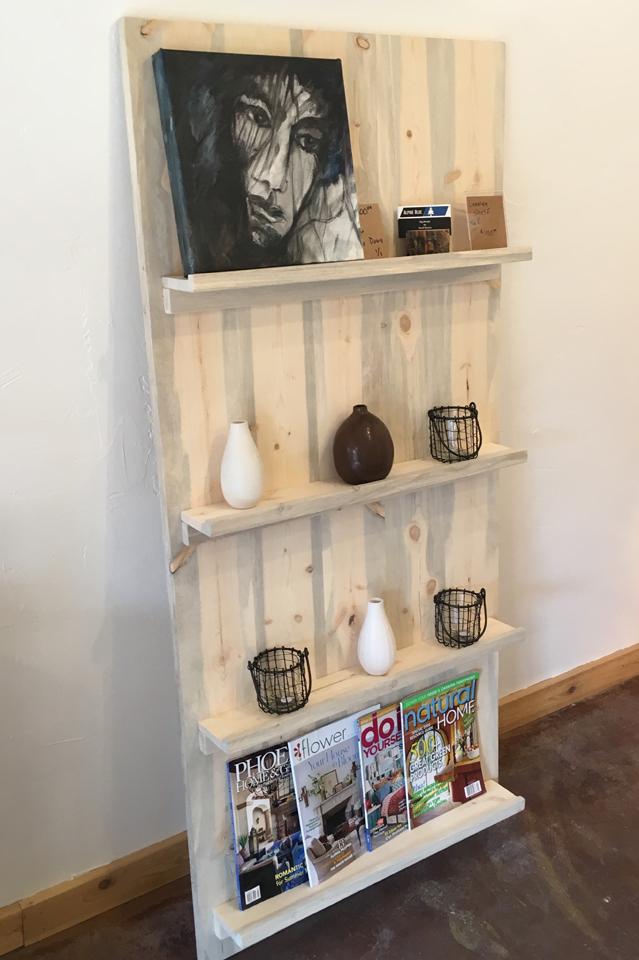 Beetle kill pine leaning shelf - $400-$600