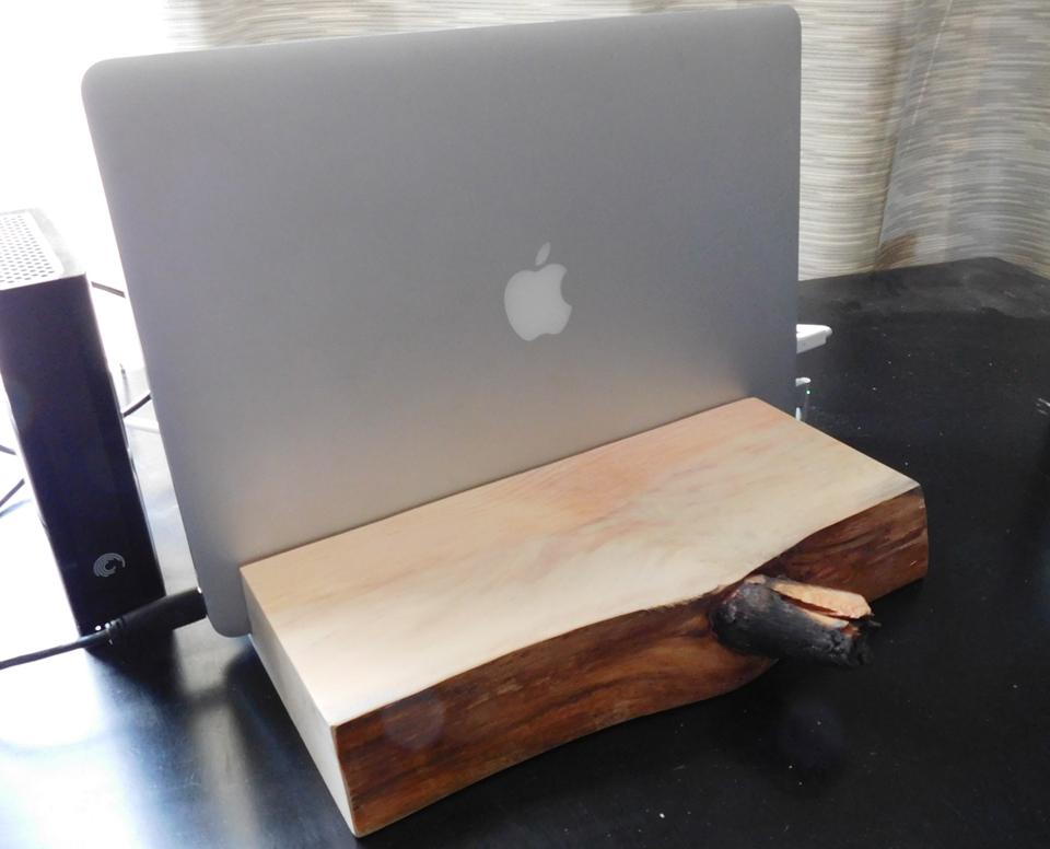 Beetle kill pine Macbook holder - $25