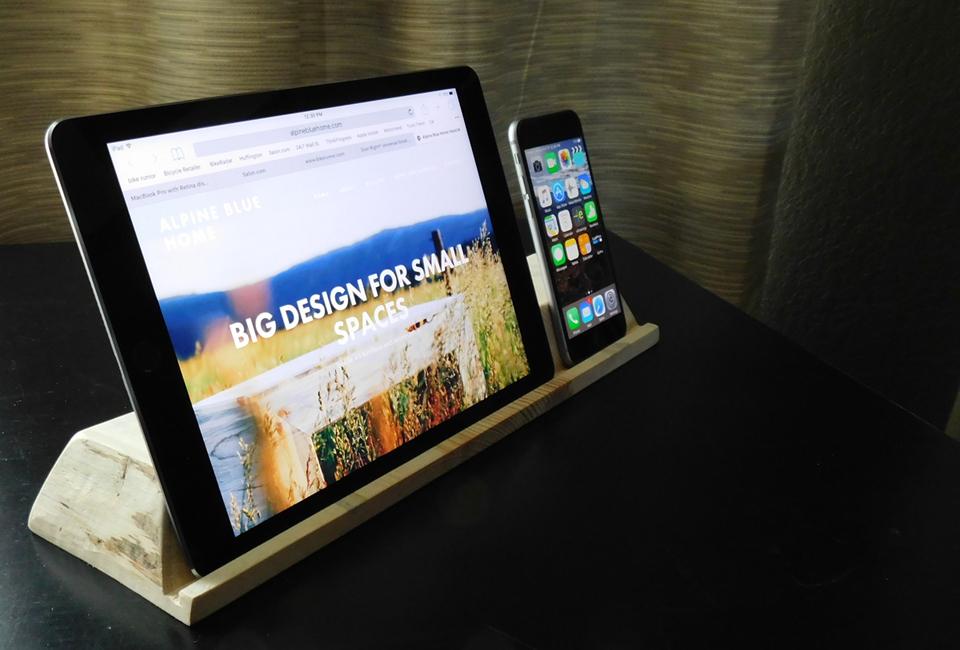 Beetle kill pine iPad holder - $15