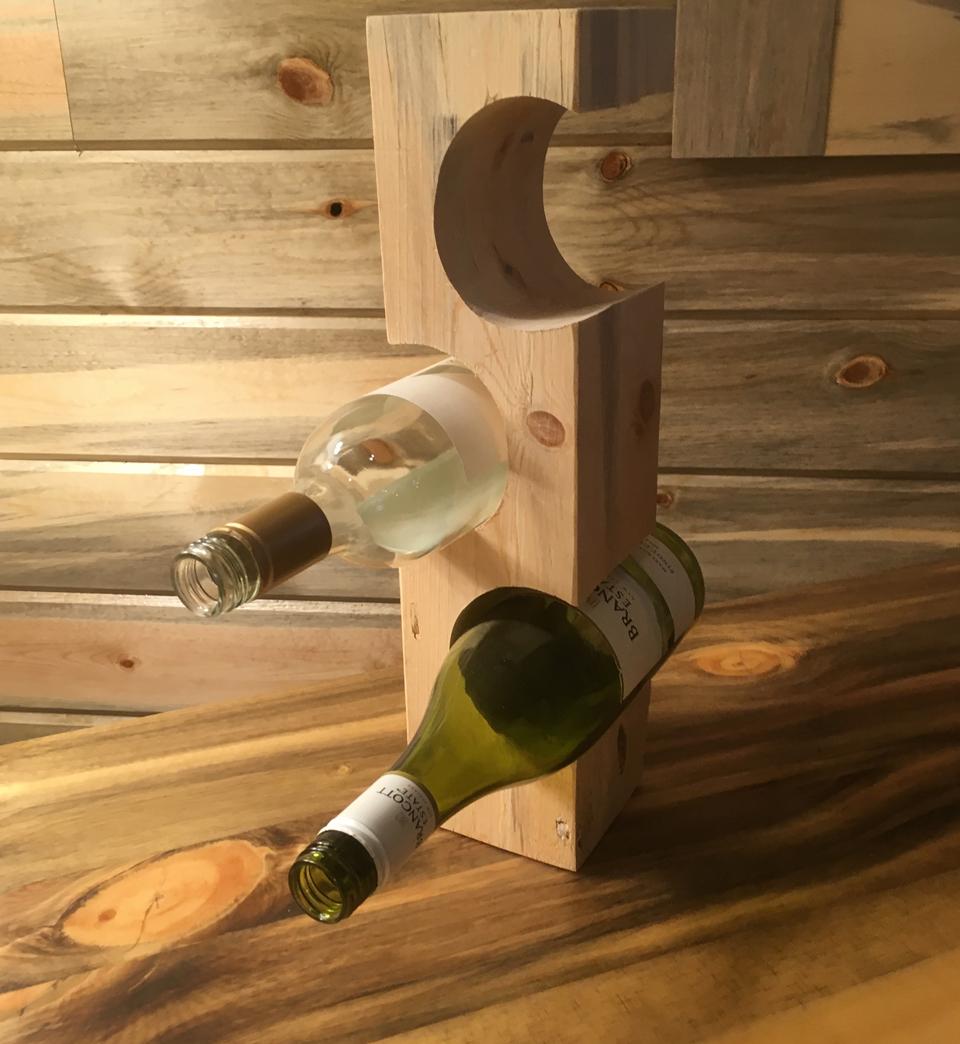 Beetle kill pine wine bottle holder - $25-$45