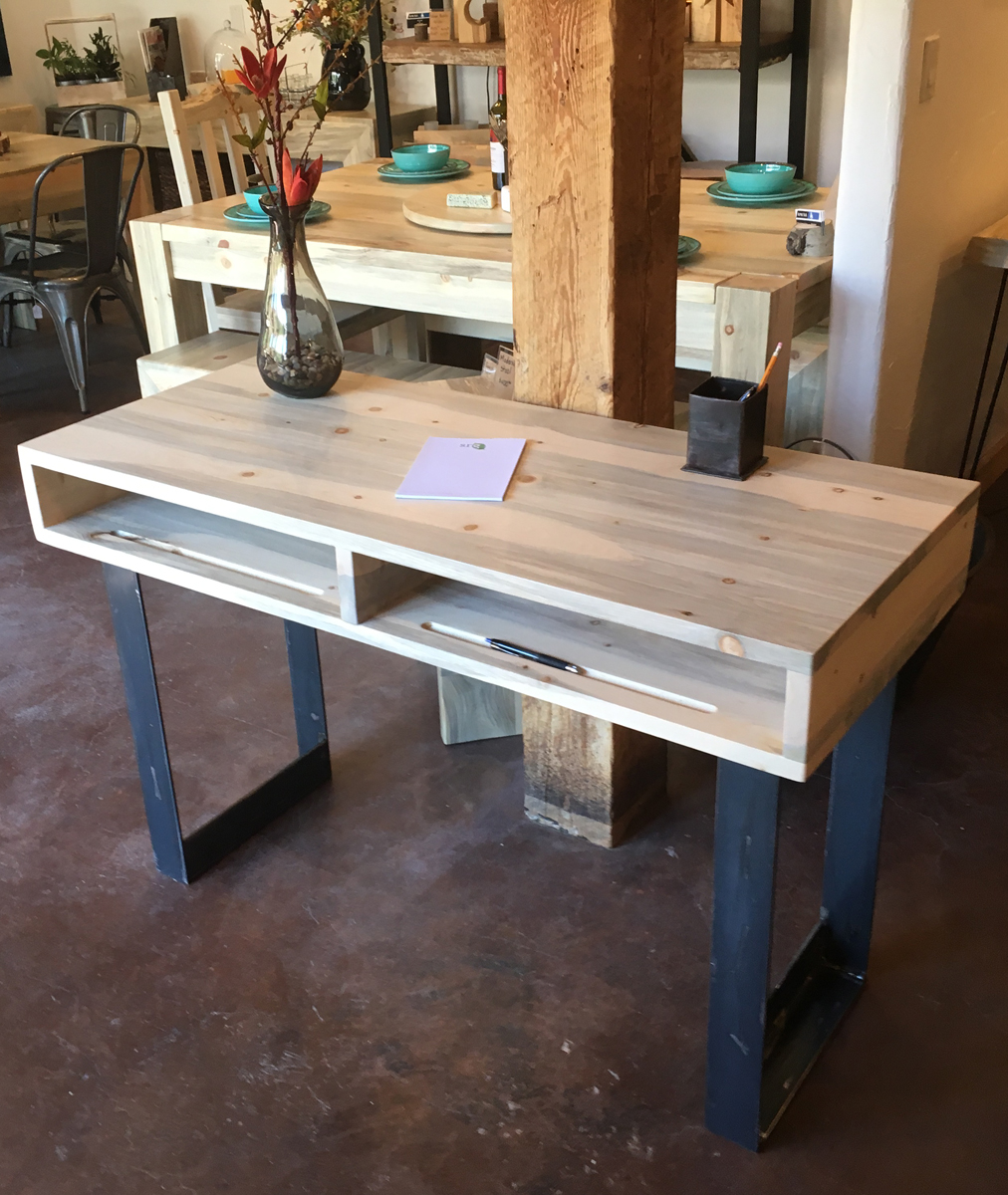 - Beetle kill pine and Steel Contemporary Desk -- $950