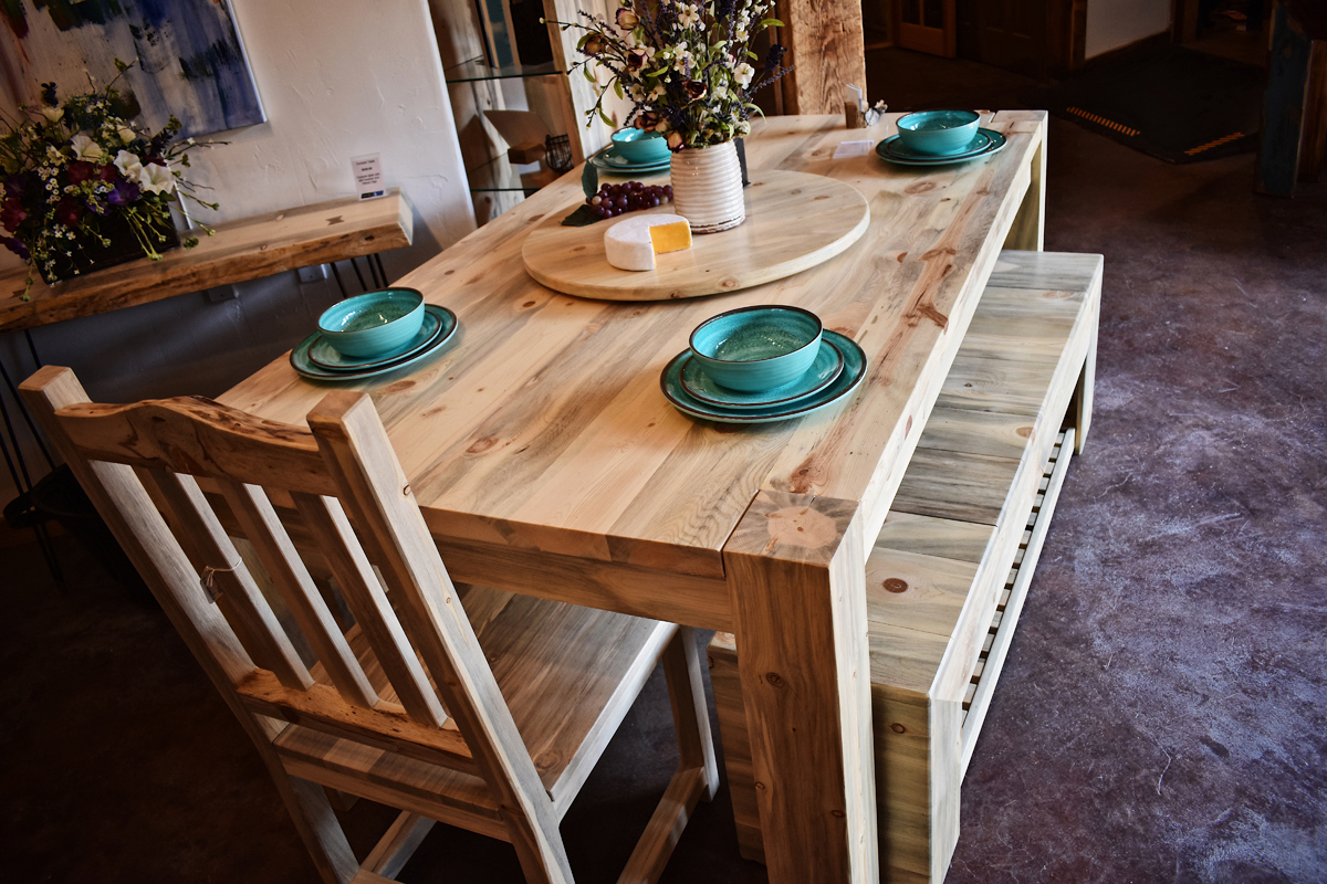 Beetle kill pine family dining table - $2850