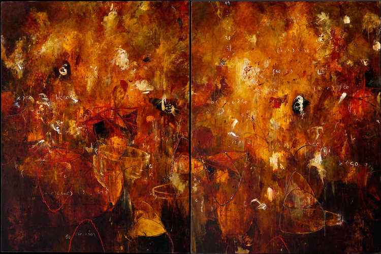 """2004 - Riddle in Gold - 36"""" X 72"""""""