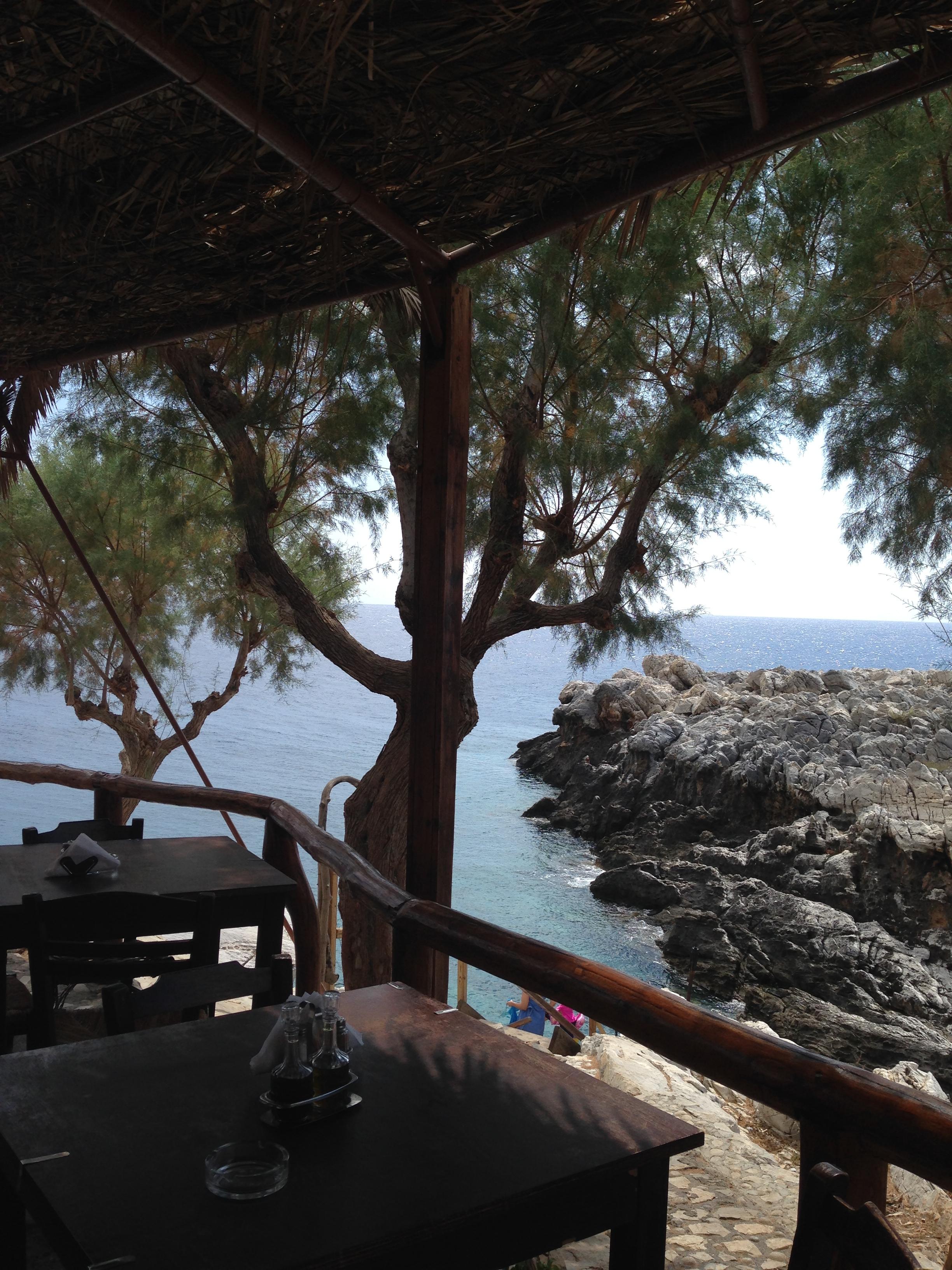 view from taverna at Marmara beach