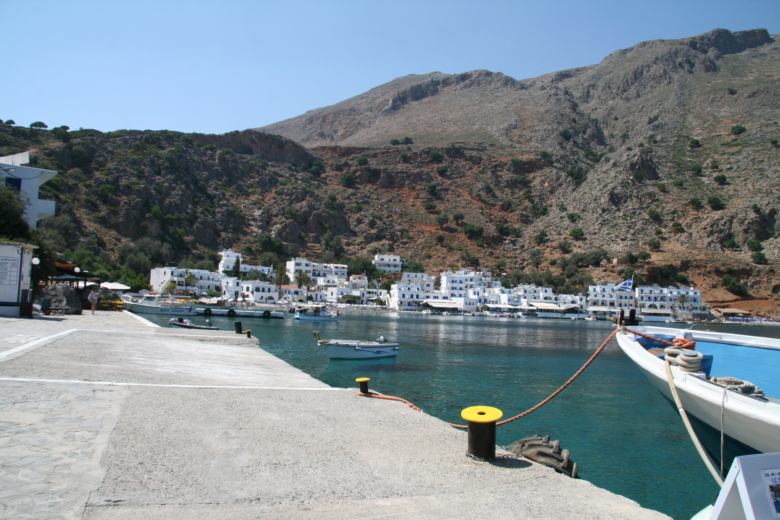 Loutro when arriving by boat