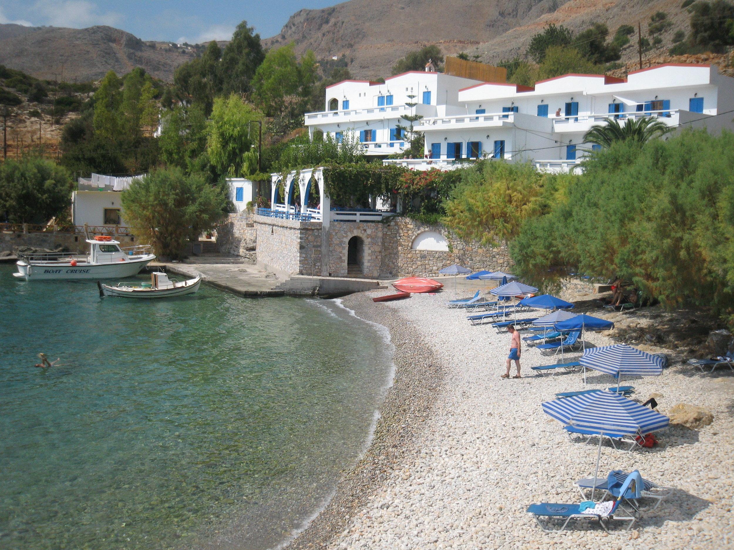 beach of Finikas bay