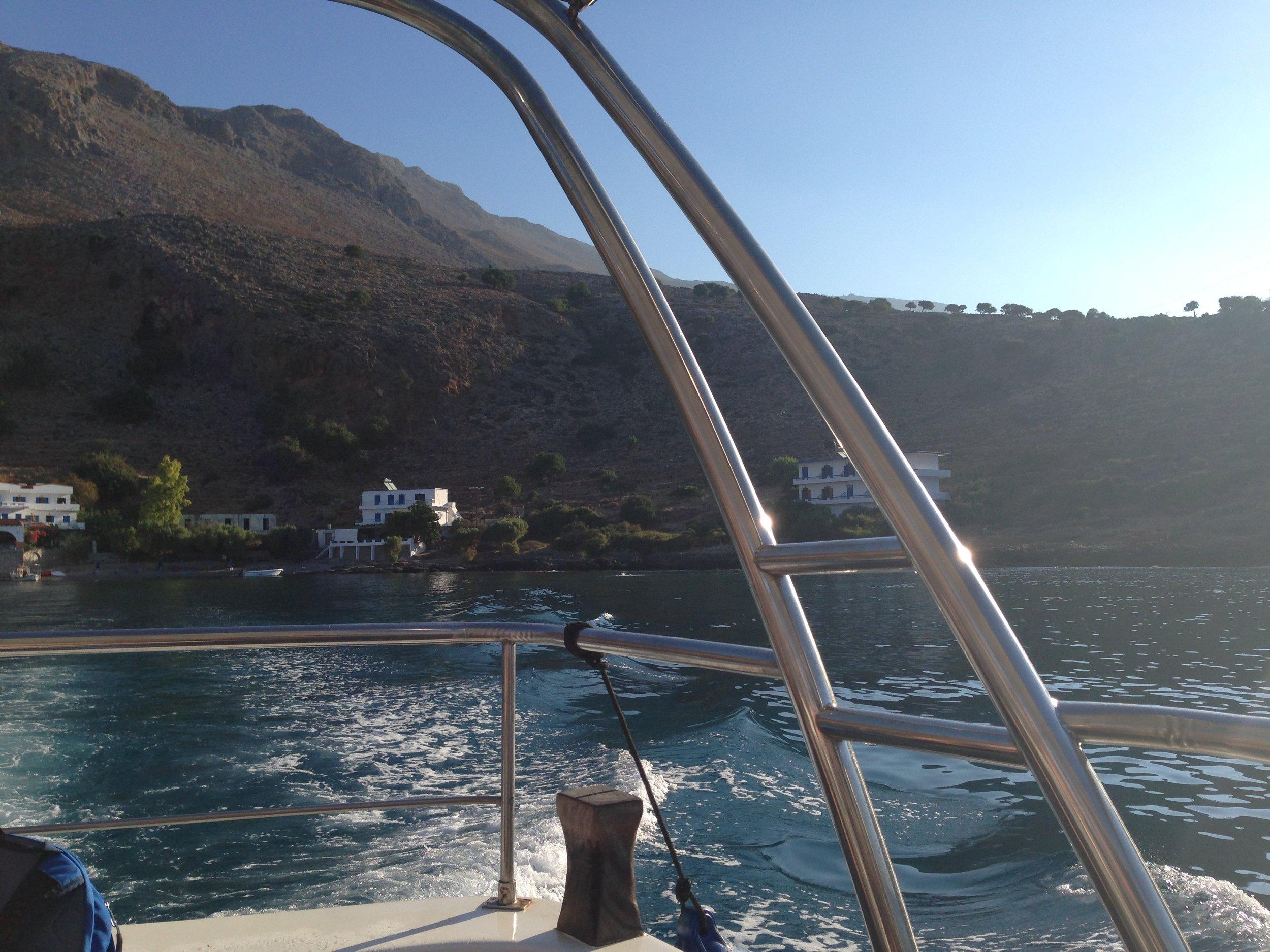 boat trip leaving Finikas