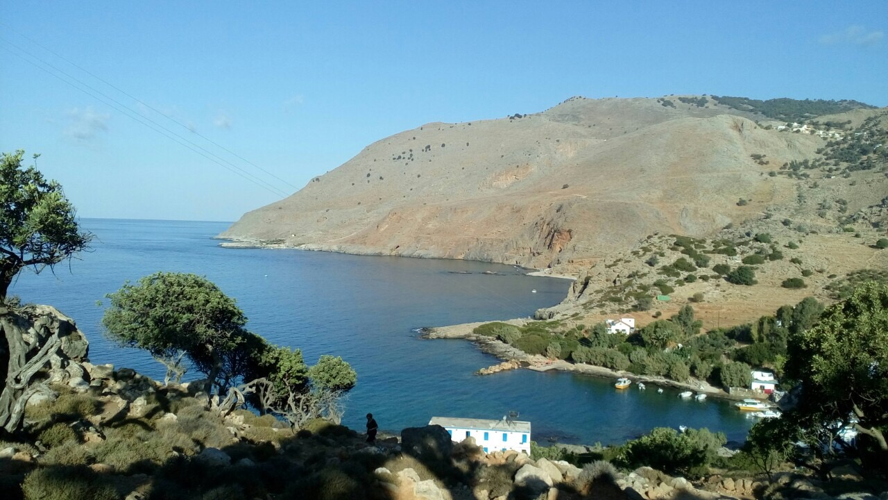 from the east – Looking down towars finikas bay and Natassa's place
