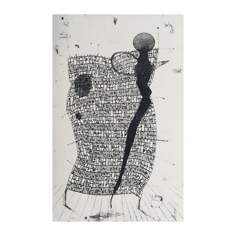 Walking Sheet Lithograph on Rag Paper 2019