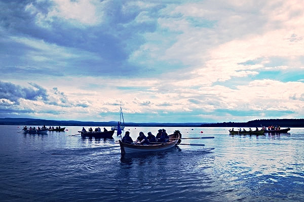Scottish Coastal Rowing is fairly new but they have a hand built boat from a flat pack! All boats have individual touches and are spectacular works of art assembled by the communities that row them.