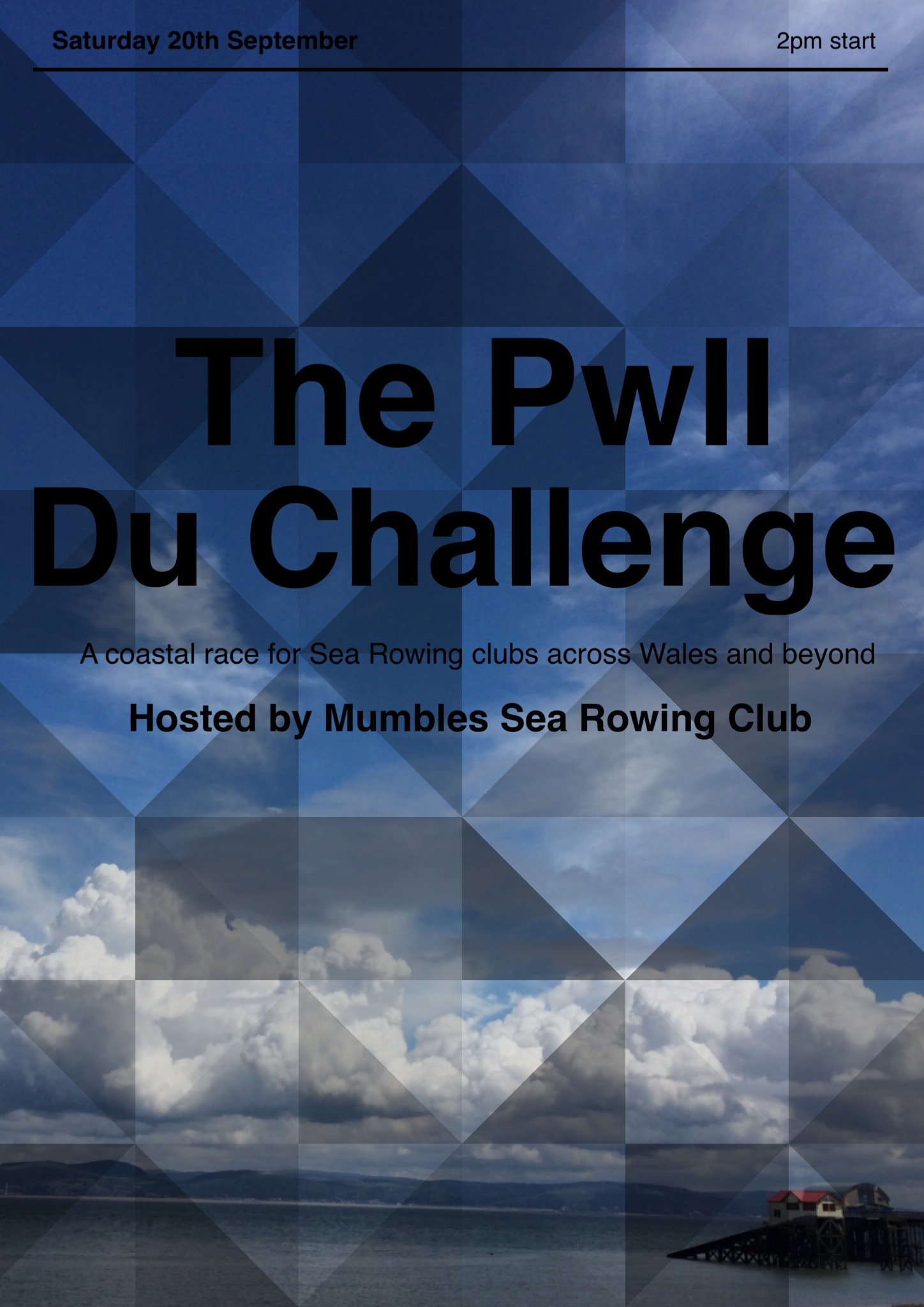Last years Pwll Du Challenge poster by NH