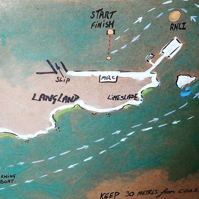 The 2016 Pwll Du Challenge race map