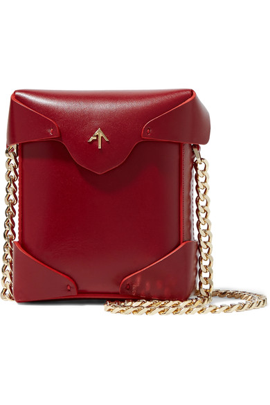 Manu Atelier Pristine micro leather shoulder bag
