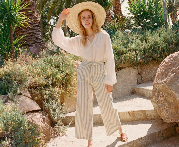 Riviera High Waisted Tie Pant