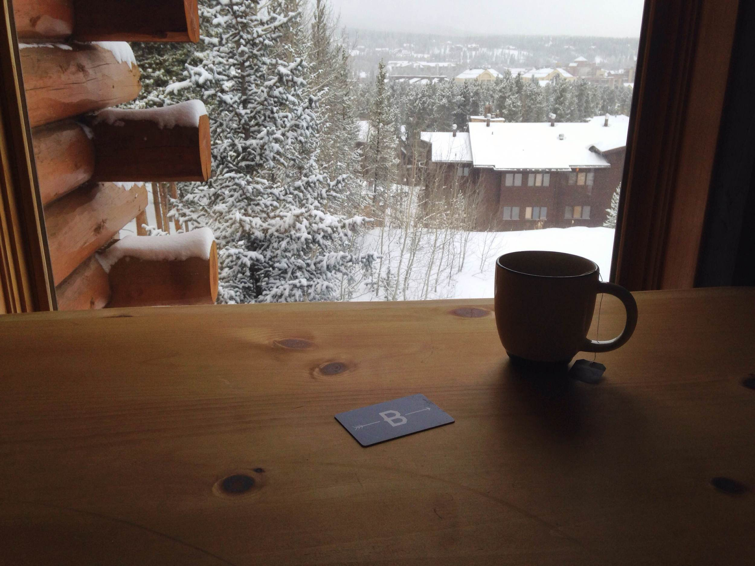 Every window in looks out to a beautiful winter wonderland. Photo by Kassondra Cloos