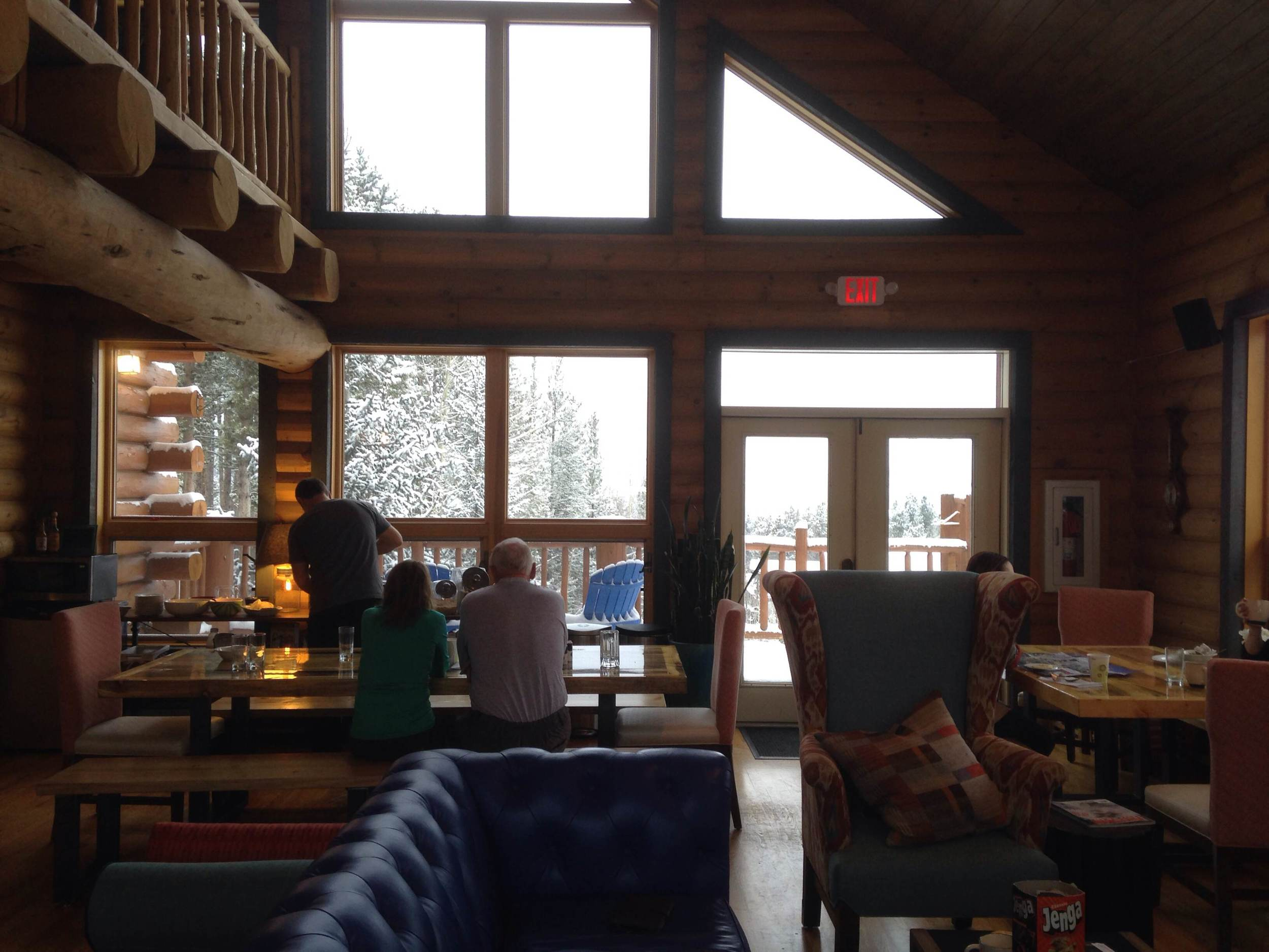 Great people, great snow, great food, great games of Jenga. Photo by Kassondra Cloos