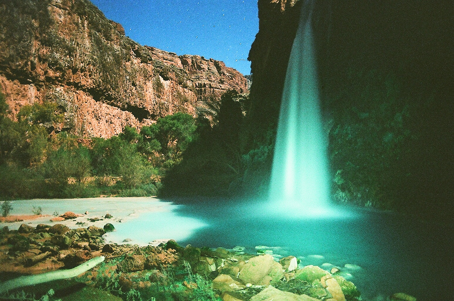 Havasu Falls, at night. Photo by Kassondra Cloos (with assistance from Nick Cote)