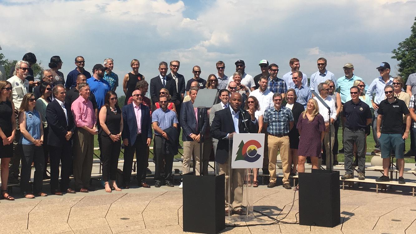 Denver Mayor Michael Hancock welcomes Outdoor Retailer to his city. Photo: Kassondra Cloos