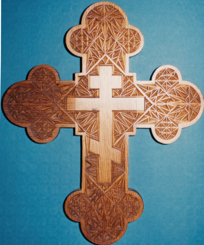 chip carved wall cross