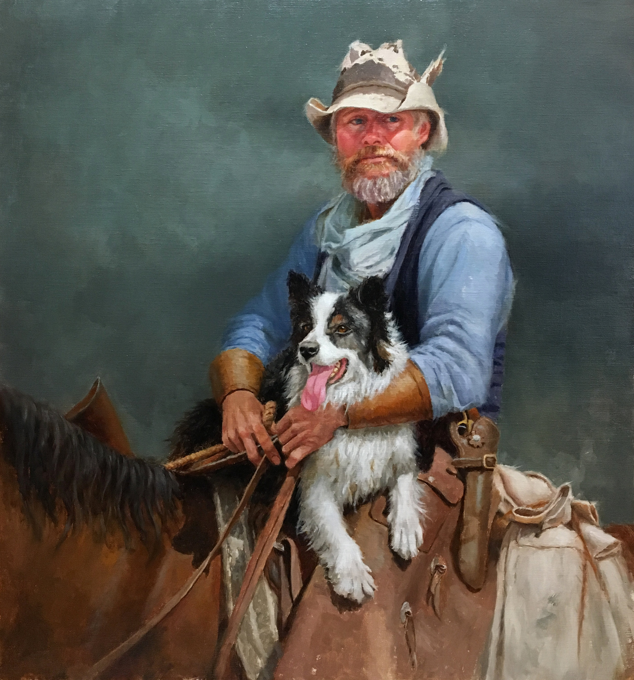 """Jake & Molly""  -- oil on linen  26"" x 28"""