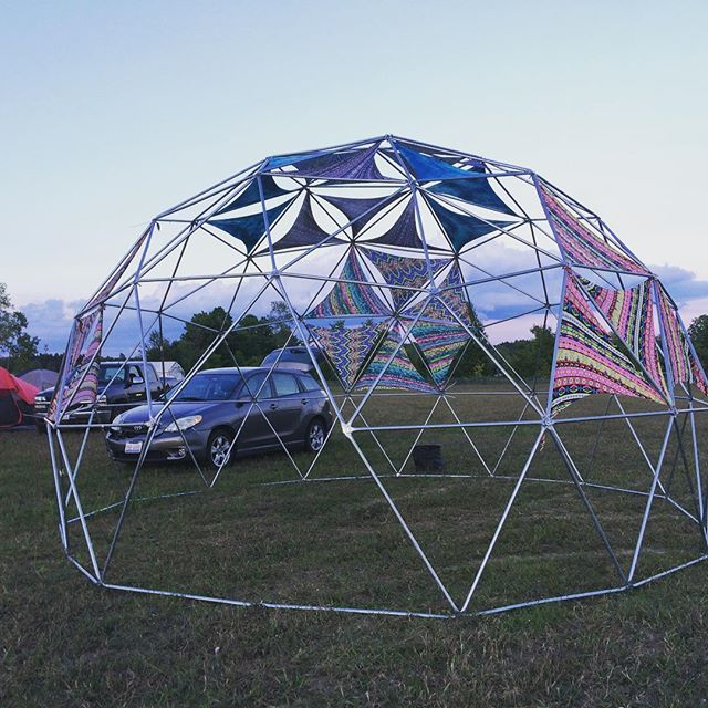 Here's a pic of a workshop dome we built for #UpNorth Fest in Michigan this weekend! #Geodesic #workshop #Dome